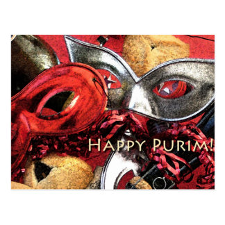 Cartão feliz de Purim