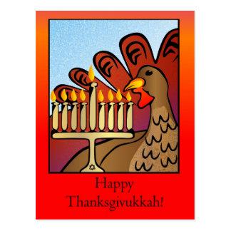 Cartão feliz de Thanksgivukkah