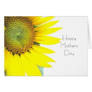 Cartão Feliz dia das mães do girassol