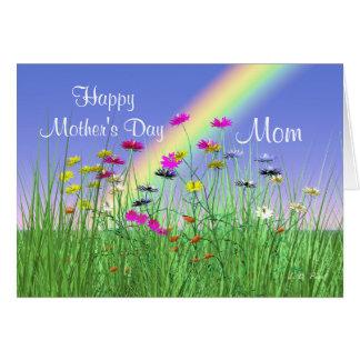 Cartão Feliz dia das mães para flores do primavera da