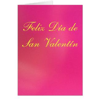 Cartão - Feliz Día de San Valentín - Rosa