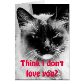Cartão Feliz dia dos namorados do humor do gato