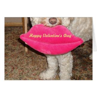 Cartão Feliz dia dos namorados e um beijo de nosso cão!