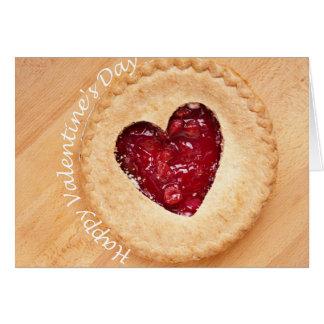 Cartão Feliz dia dos namorados - torta da cereja