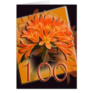 Cartão feliz do aniversário de Clivea 100th