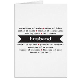 cartão feliz do aniversário do marido