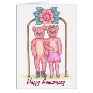 Cartão feliz do aniversário do urso de ursinho