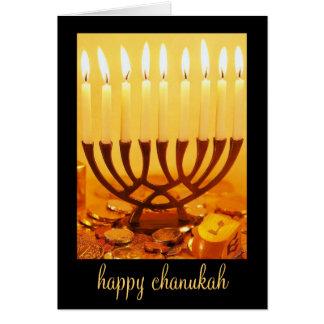 cartão feliz do chanukah