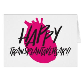 Cartão feliz do coração de Transplantaversary