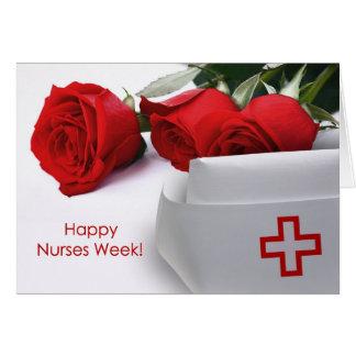 Cartão feliz do costume da semana das enfermeiras