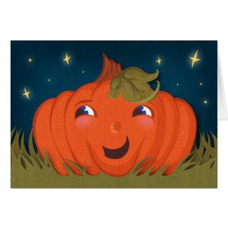 Cartão feliz do Dia das Bruxas da abóbora