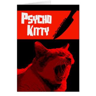 Cartão feliz do Dia das Bruxas do gatinho