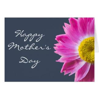 Cartão feliz do dia das mães com flor cor-de-rosa