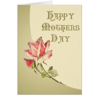 Cartão feliz do dia das mães do vintage