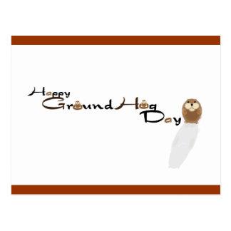 Cartão feliz do dia de Groundhog