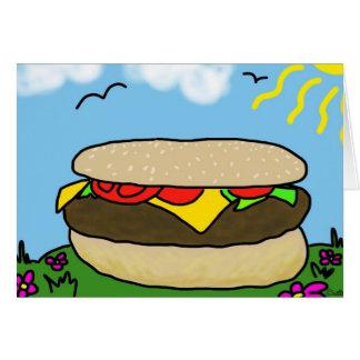 Cartão feliz do dia do hamburguer (vazio)