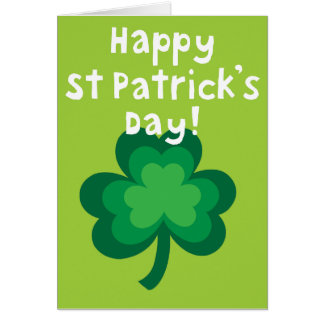 Cartão feliz do dia do St. Patricks