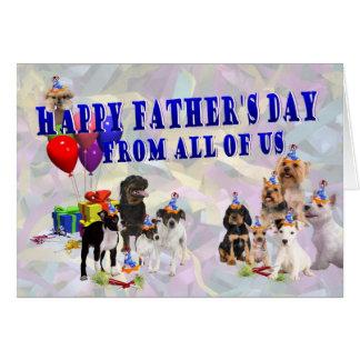Cartão feliz do dia dos pais da multi raça