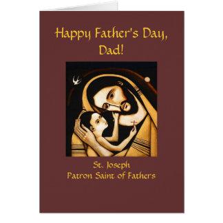 Cartão feliz do dia dos pais de St Joseph