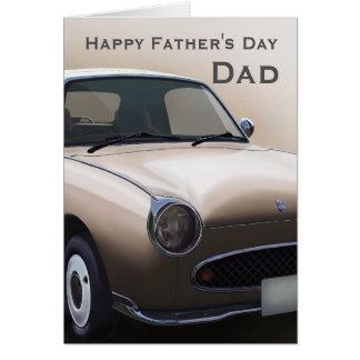 Cartão feliz do dia dos pais do carro de Figaro da