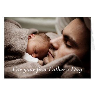 Cartão feliz do dia dos pais do novo papai