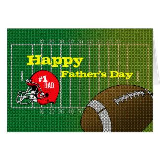 Cartão feliz do dia dos pais do pai do futebol #1