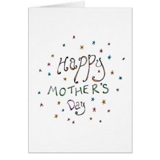 Cartão feliz do Doodle do dia das mães