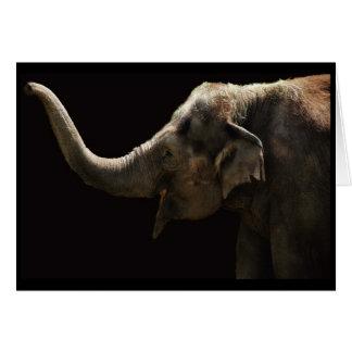 Cartão feliz do Elefante-Vazio