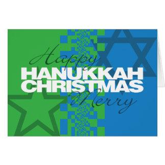 Cartão feliz do Feliz Natal de Hanukkah