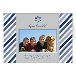 Cartão feliz do feriado da família da fita de