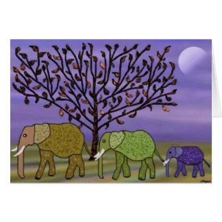 Cartão feliz do feriado da lua do elefante