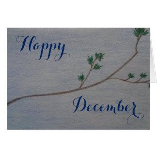 Cartão feliz do feriado de dezembro
