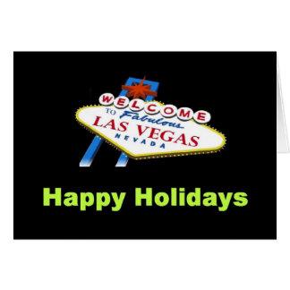 Cartão feliz do feriado de Las Vegas