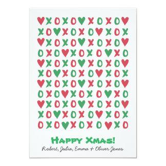Cartão feliz do feriado do Xmas de XOXO Convite 12.7 X 17.78cm