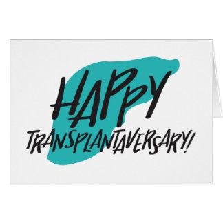 Cartão feliz do fígado de Transplantaversary