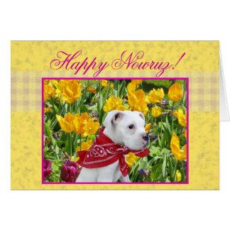 Cartão feliz do filhote de cachorro do pugilista