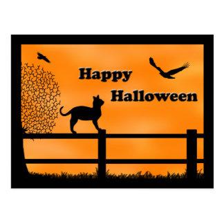 Cartão feliz do gato do Dia das Bruxas