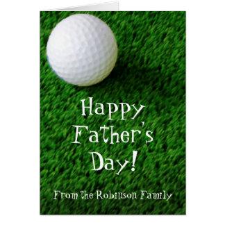 Cartão feliz do golfe do dia dos pais