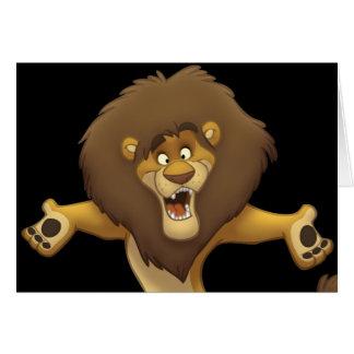 Cartão feliz do leão (vazio para dentro)