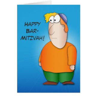 Cartão feliz do mitzva do bar