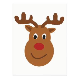 Cartão feliz do Natal da rena