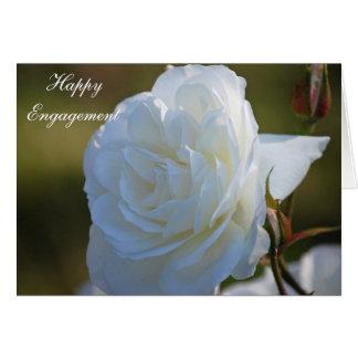 Cartão feliz do noivado