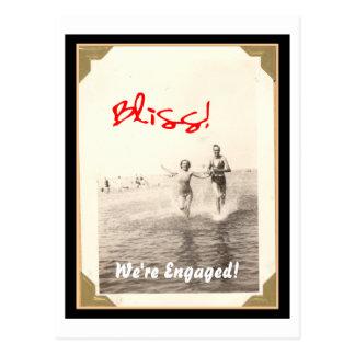 Cartão feliz do noivado cartões postais