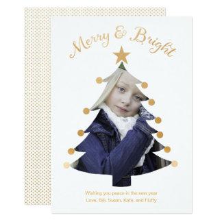Cartão Feliz do ouro e foto brilhante do entalhe da