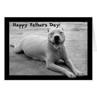Cartão feliz do pitbull do dia dos pais