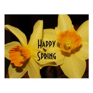 Cartão feliz do primavera