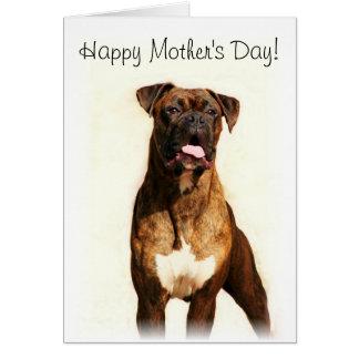 Cartão feliz do pugilista do dia das mães