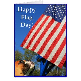 Cartão feliz do pugilista do dia de bandeira