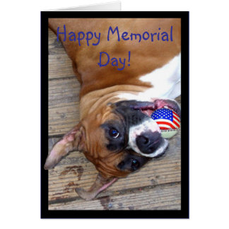 Cartão feliz do pugilista do Memorial Day