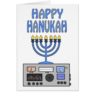 Cartão feliz do radioamador de Hanukah